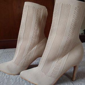 Yoki stretch-knit sock boot